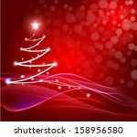 abstract christmas tree... | Shutterstock . vector #158956580