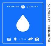 drop symbol icon. graphic...   Shutterstock .eps vector #1589567140