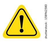 hazard warning attention sign... | Shutterstock .eps vector #158962580