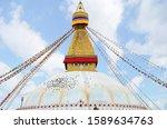 Boudhanath Stupa With Prayer...