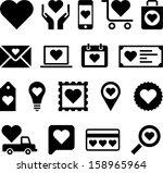 conceptual heart icons | Shutterstock .eps vector #158965964