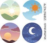 morning  noon  evening circle... | Shutterstock .eps vector #1589674279