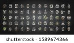 vector set of coffee icons on...   Shutterstock .eps vector #1589674366