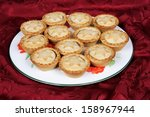 Mince Pies On A Plate Against ...