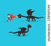 Pixel Art Warrior Fighting...