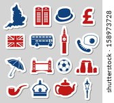 england stickers | Shutterstock .eps vector #158973728