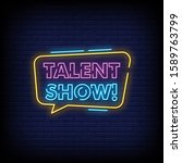 talent show neon signs style...   Shutterstock .eps vector #1589763799