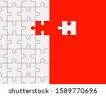 puzzle banner presentation....   Shutterstock . vector #1589770696