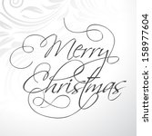 merry christmas typography text ... | Shutterstock .eps vector #158977604