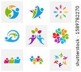 set of community logo design... | Shutterstock .eps vector #1589782270