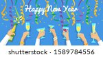 Happy New Year Banner With...