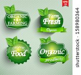farm fresh food label  badge or ... | Shutterstock .eps vector #158980364