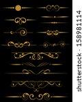 set of decorative design... | Shutterstock .eps vector #158981114