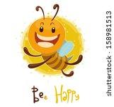 Bee  Happy  Vector