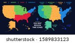 detailed map of us regions and... | Shutterstock .eps vector #1589833123