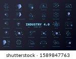 industry 4.0  icon set  big... | Shutterstock .eps vector #1589847763