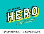 comics style font design  super ... | Shutterstock .eps vector #1589869696