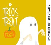 trick or treat halloween  ... | Shutterstock .eps vector #158992268