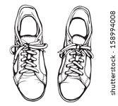 スポーツ,ブラック,黒と白,ブーツ,しわくちゃ,図面,靴,