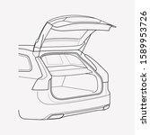 trunk icon line element. vector ... | Shutterstock .eps vector #1589953726