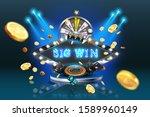 vector neon banner is a big win ... | Shutterstock .eps vector #1589960149