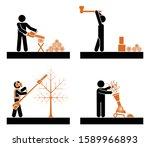 pictogram icon set presenting... | Shutterstock .eps vector #1589966893