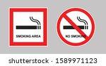 no smoking sign  smoking... | Shutterstock .eps vector #1589971123