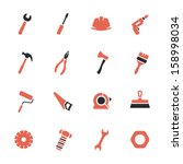 tools icons set | Shutterstock .eps vector #158998034