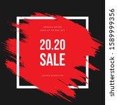 new year sale banner vector... | Shutterstock .eps vector #1589999356