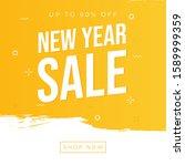 new year sale banner vector... | Shutterstock .eps vector #1589999359