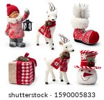 Set Of Christmas Decorative...