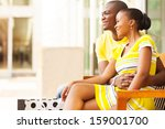 lovely african american couple... | Shutterstock . vector #159001700