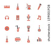 musical instruments icons | Shutterstock .eps vector #159001928