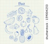 illustration of fruit ink... | Shutterstock . vector #159004253