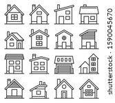 house icons set on white...   Shutterstock .eps vector #1590045670