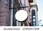 signboard mockup and template... | Shutterstock . vector #1590057589