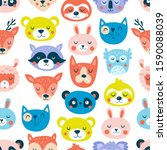 seamless pattern with cute...   Shutterstock .eps vector #1590088039