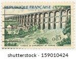 france   circa 1960  a stamp... | Shutterstock . vector #159010424