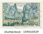 france   circa 1965  a stamp... | Shutterstock . vector #159010529