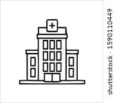 hospital icon in outline style... | Shutterstock .eps vector #1590110449