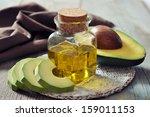 Bottle Of Avocado Essential Oi...