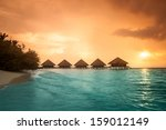 Over Water Bungalows With Step...