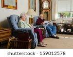 an elderly couple quietly enjoy ... | Shutterstock . vector #159012578