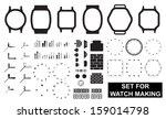 set for watch making. vector...   Shutterstock .eps vector #159014798