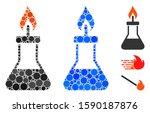 spirit lamp fire composition of ... | Shutterstock .eps vector #1590187876