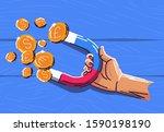 vector illustration of a hand... | Shutterstock .eps vector #1590198190