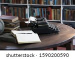 Small photo of Office and typewriter in Ernest Hemingway's Home and Museum, Whitehead Street, Key West, Florida, United States