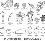 coloring page. big set of... | Shutterstock .eps vector #1590202393