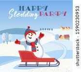 Happy Sledding Party Invitation ...