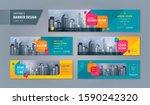 abstract banner design web... | Shutterstock .eps vector #1590242320